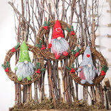 Pendurado Não Tecido Chapéu Com Coração Rattan Sueco Gnomo Estatueta Artesanal Enfeites Para Casa Decoração de Natal Brinquedos Decoração de Mesa