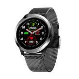 Bakeey E70 IP68 Wodoodporna opaska na nadgarstek EKG + PPG Monitor tętna i tlenu we krwi Inteligentny zegarek