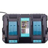Carregador duplo inteligente DC18RD 18-14V Bateria Para Makita Carregador USB Rápido Rápido Dual Dual Port