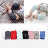 1 пара младенческой малышей анти-скольжения эластичный наколенник ползая защитная подушка для ног