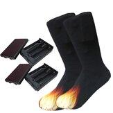 Bota de algodão aquecido elétrico meias pés pé mais quente presente quente Aquecedor