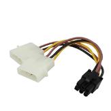 PC-voeding Dual 4-pins tot 6-pins PCI-E grafische kaart SATA-voedingskabel Splitterkabel Voedingskabel