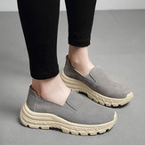 Women Elastic Band Suede Comfortable Platform Sneakers