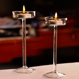 Elegant Crystal Glass Candle Holder Tealight Wedding Party Decor Candlestick