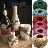 10Pcs 10M Natural Burlap Hessian Jute Twine Cord Hemp Rope Party Wedding Gift Wrapping Cords Thread DIY Scrapbooking Craft Decorations
