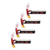 4個URUAV 11.4V 300mAh 70C / 140C 3S LipoバッテリーXT30 RC FPVレーシングドローン用プラグ
