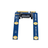 ITHOO MPCE1ST-N03 MSATA to SATA 3.0 7PIN Interface SSD PCI-E Expansion Card 6Gbps for Desktop Computer