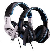 SADES SA-810 3.5mm Stereo Noise Isolating Leather Earmuffs Gaming Headphone with Microphone for PS4 PC Mac Laptop Phone