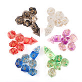 7Pcs Transparent Polyhedral Dices Multi-sided Dice