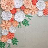 2 ADET Büyük Kağıt Çiçekler Zemin Doğum Günü Duvar Dekor Parti DIY Dekorasyon