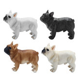 French Bull Dog Realistic Lifelike Resin Collection Figuine Statue Kid Toys Gift