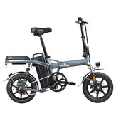 Fiido L2 Flagship Version 48V 350W 20Ah Folding Electric Moped Bike 14 inch 25km/h Top Speed 3 Gear Power Boost Electric Bicycle Electric Bike