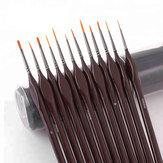 H&B 12 sztuk Zestaw linii pióra Hak Szczotka do malowania Miniaturowe szczegóły Fineliner Nail Art Rysunek Długopisy Szczotki do malowania akrylowego