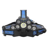BIKIGHT 2501-A 3600LM 7xT6 LED Headlamp USB 18650 Headlight Torch Rechargeable Lamp With SOS Help Whistle
