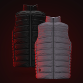 90FUN IP64 Men Winter Rechargeable Electric Intelligent Heated Vest Washable Down Jacket