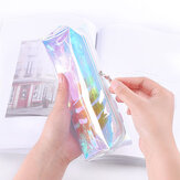 Cool Laser Transparent Color Pencil Bag PVC Waterproof Cosmetic Bag