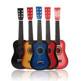 23-calowy 6 strunowy ukulele z drewna lipowego z torbą dla początkujących