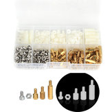 Suleve  M3BH8 360Pcs M3 Male-Female Brass Nylon Hex Column Standoff Support Spacer Pillar Screw Nut Bolt Assortment Kit For PCB Board