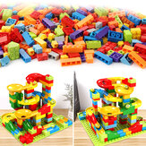 165PCS Building Blocks Set DIY Crazy Marble Race Run Maze Track Construction Toys