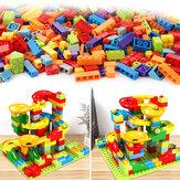 165 PCS Blok Bangunan Set DIY Gila Marmer Run Labirin Mainan Konstruksi Track