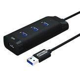 DM CHB007 4 port USB3.0 Hub 5Gbps Extender Extension Connector USB Hub dengan Kabel 120cm