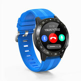 Bakeey M5s Real Full Roud Touch Bluetooth-Anruf GSM Eingebautes GPS Kompassbarometer Blutdruck Wetter Smart Watch Phone