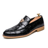 Genuine Leather Pattern Dress Shoe Casual Business Oxfords