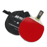 1 szt. Rakieta do tenisa stołowego Drewniana gumowa profesjonalna wiosło do piłki z torbą do przechowywania