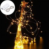 LUSTREON DC3V Warm White Yellow 2M Silver Wire Accendi LED String Light per decorazioni natalizie per vasi