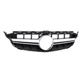 AMG Style Silver Front Grille Grill Without Camera For Mercedes Benz C Class W205 C200 C250 C300 C350 15-18