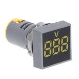 3 pcs Amarelo 22 MM AC 12-500 V Voltímetro Painel Quadrado LED Digital Indicador de Tensão Medidor de Luz