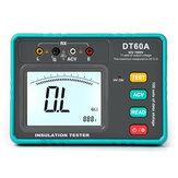 DT60A Digitale Auto Range Isolatieweerstand Meter Tester Hoogspanning LED-indicatie 1999 Tellingen