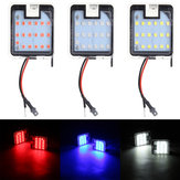 Pair LED Puddle Light Rearview Mirror Under Lamp White/Red/Blue For Ford Focus Mondeo Kuga C-Max Escape