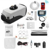 12V 8KW Kit de chauffage Air Diesels de chauffage de stationnement de voiture avec commutateur de commande à distance LCD réservoir de carburant de moniteur pour camping-car, remorque de camping-car, camions, bateaux