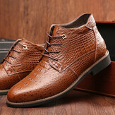 Genuine Leather Snake Pattern Casual Chukka Boots