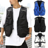 Multi-bolso Men Tactical Vest Outdoor Fishing Respirável Quick Dry Waistcoat Jacket