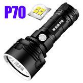 P70/L23ModesSuperBright Light LED Lampe de poche Extérieure USB Rechargeable Lampe de poche étanche 26650 Lampe de poche