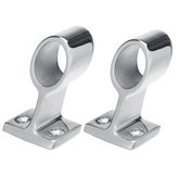 22/25mm 60° Marine Boat Yacht Railing Pipe Base Fitting Support Stainless Steel