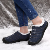Women Waterproof Plush Lining Warm Winter Ankle Snow Boots
