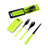 Xmund XD-LG2 3 Pcs ABS Fork Spoon Chopstick Folding Tableware Camping Picnic Travel Portable Chinese Dinnerware Sets