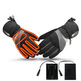 Electric Heated Gloves Motorcycle Winter Waterproof Thermal Outdoor Skiing Warmer