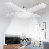 300W AC110-265 4 + 1 liści Składana E27 Żarówka LED 6500K Odkształcalna sufitowa warsztatowa lampa garażowa na parking