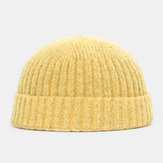 Men Women Solid Color Knitted Wool Hat