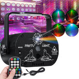 60 أنماط RGB Laser ضوء DJ العارض LED Stage Effect ضوءing Voice مراقبة