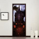 Miico MT002 Halloween Sticker Door Sticker Criativo Adesivo de Parede Removível - Papaya Castle