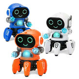 DIY 6-Legged Smart RC Robot Toy Sing Dance Robot Toy With Colorful Light