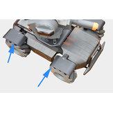 DJI RoboMaster S1 RCロボット用CNCホイールスプラッシュガードフェンダー