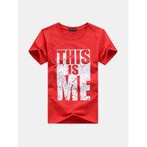 Bedruckte, atmungsaktive Baumwoll-T-Shirts