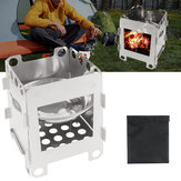 IPRee® Outdoor Portable Wood Cooking Stove Stainless Steel Picnic BBQ Burner Furnace Camping Hiking