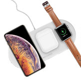 Bakeey 3 In 1 10W 5W Fast Charging Pad Wireless Charger For Watch Headset iPhone 11 XS Huawei P30 S10+ Note10